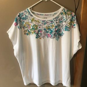 Liberty London White & Floral Top-Md